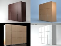 lumeo wardrobe 3D model
