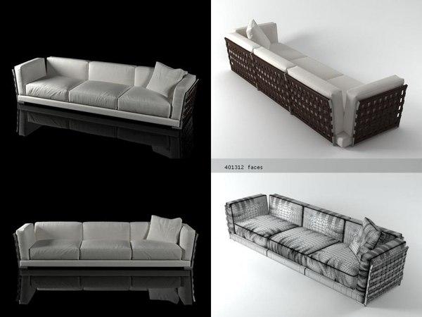 3D cestone sofa 310 model