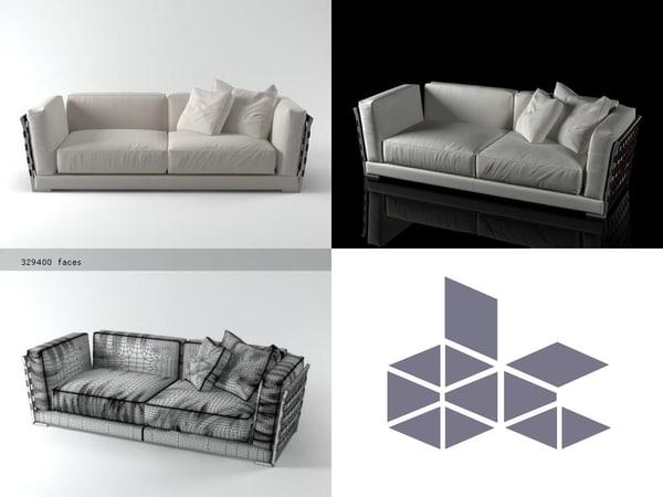 3D cestone sofa 225