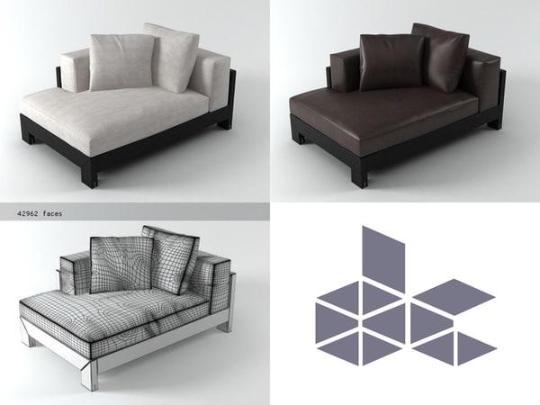 alison black sofa 140 3D