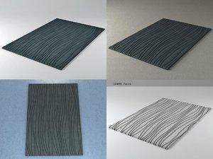 3D dune rug model