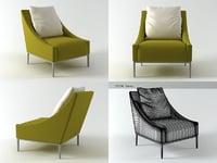 3D jean armchair