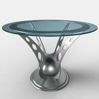 design table glass 3D model
