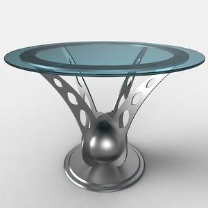design table glass 3D model