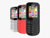3D nokia 130 2017 colors model