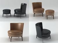 3D feel good armchair ottoman