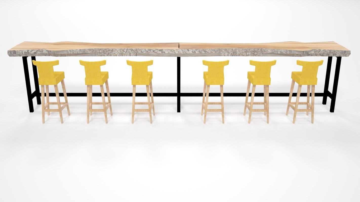 wood bar model