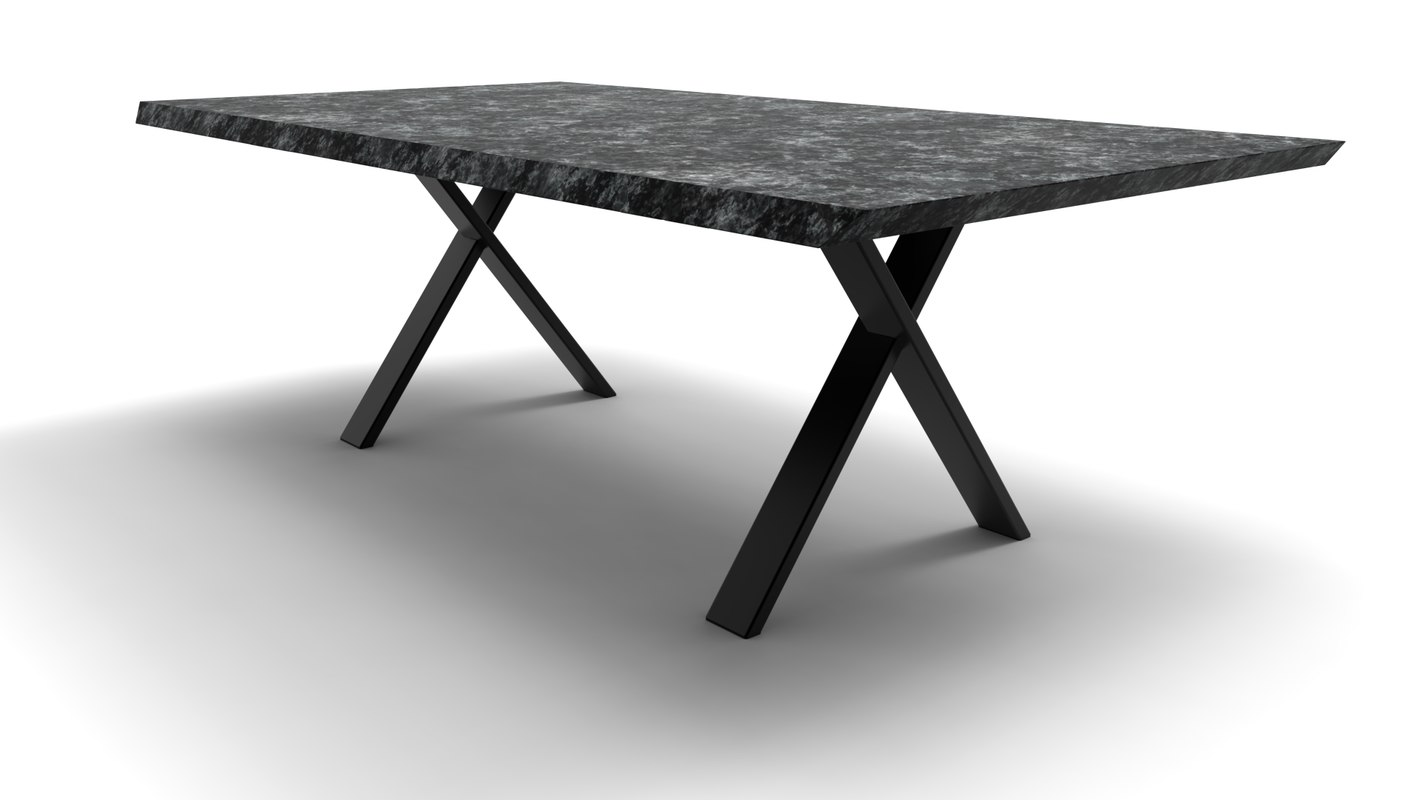 design table granite 3D