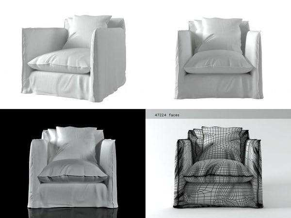 3D model ghost 01 armchair