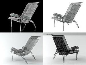 3D suki armchair model