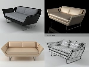 3D chill sofa model