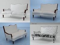 3D napoleon iii sofa n model