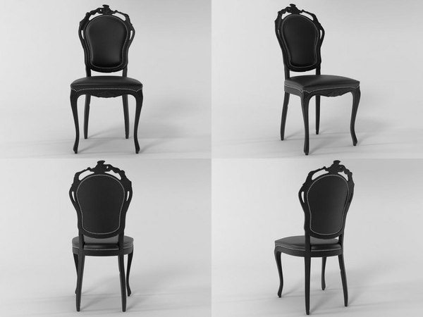 smoke dining chair 3D