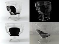 3D link easy chair model