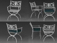 3D model valletta armchair