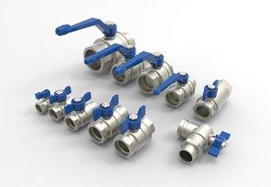 ball valve series 3D model