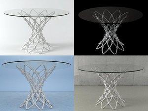 3D dragnet dining table model