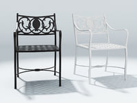 3D san marino armchair model