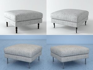 boutique footstool 3D