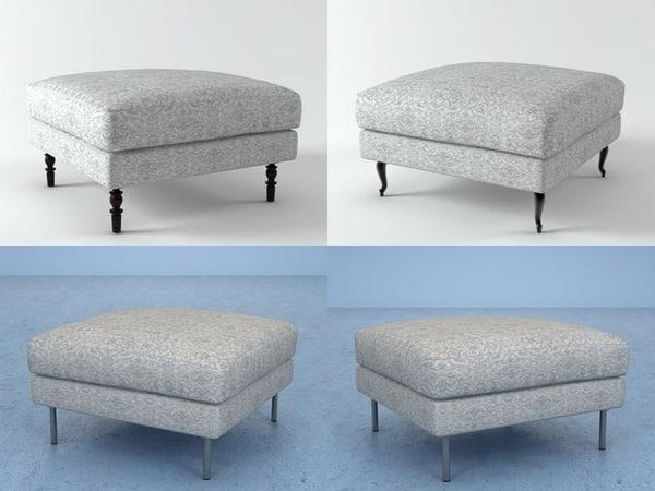 boutique footstool 3D
