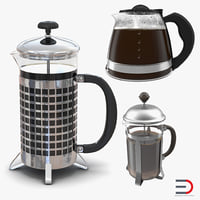 coffee pots 2 3D