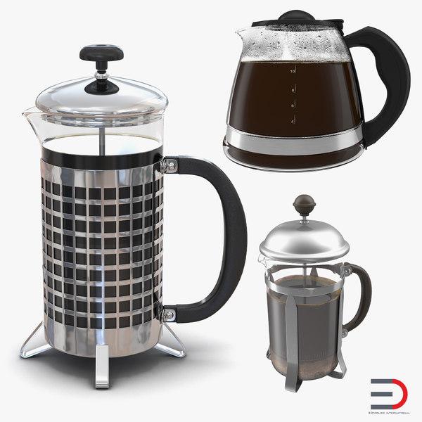coffee pots 2 3D
