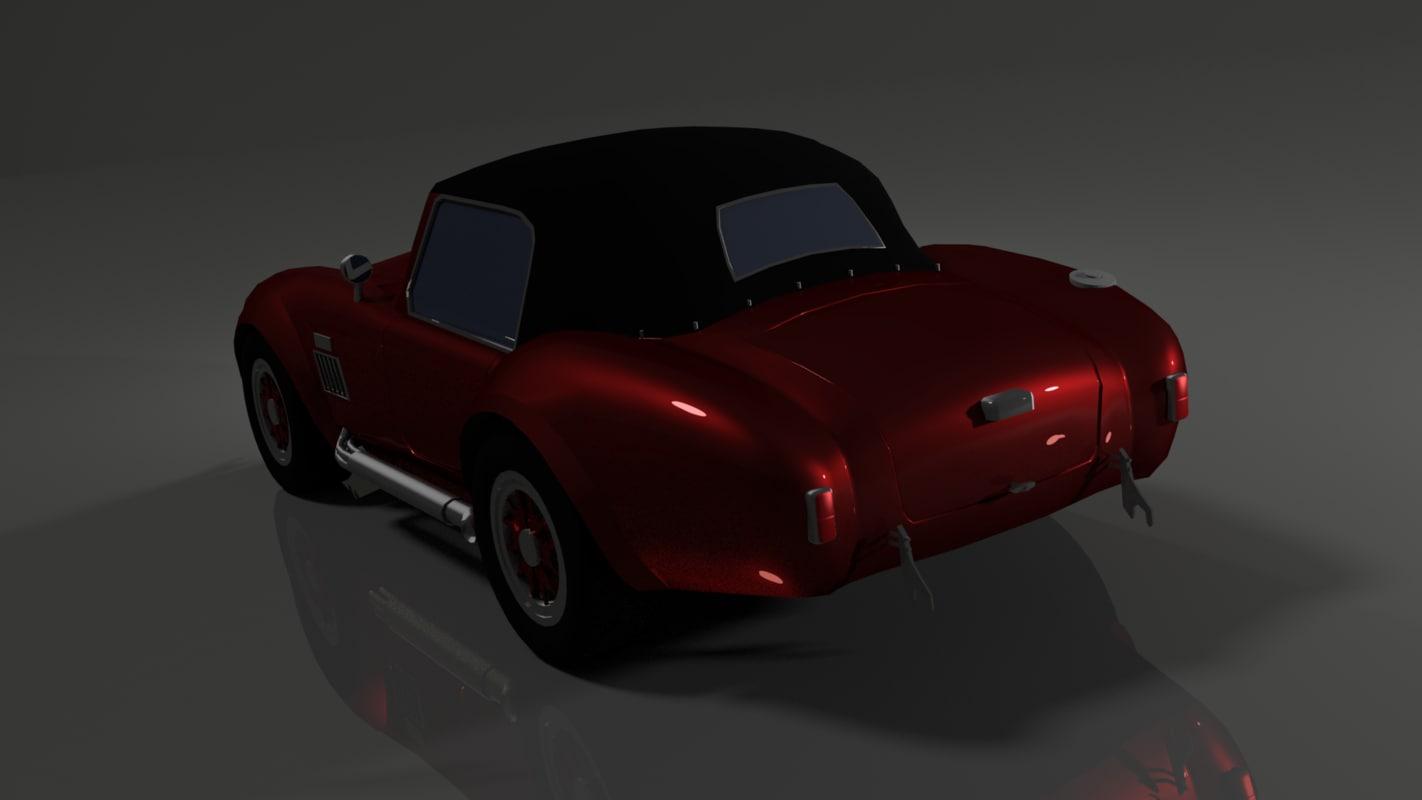 old roadster 3D model