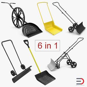 3D snow shovels