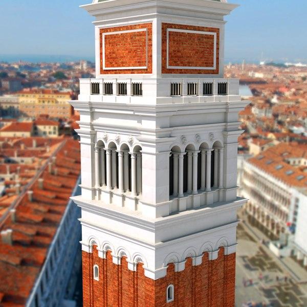 3D model tower modeled st