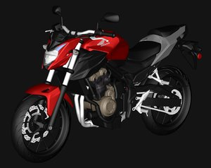 3D cb500f 2016 red