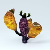 3D plant cactus alien