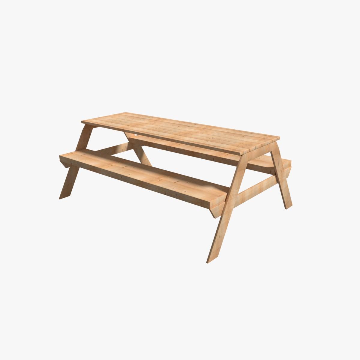3D picknick table model