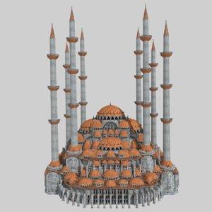 fantasy ottoman mosque s 3D