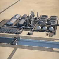 refinery oil dam model