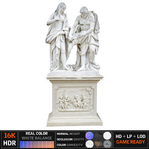 3D model monument scanned