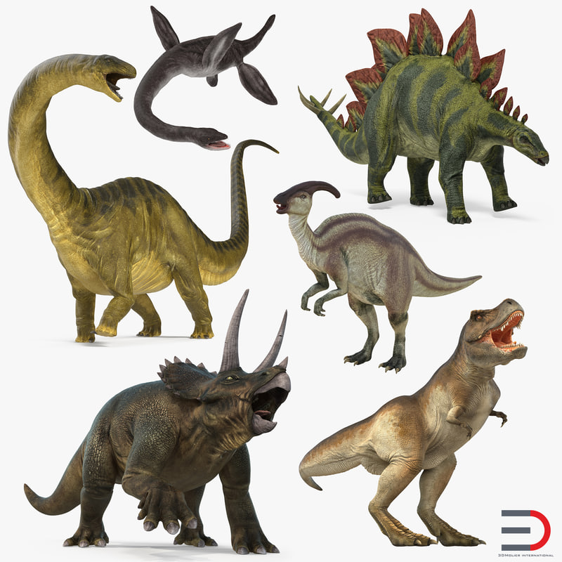 dinosaurs rigged 3D