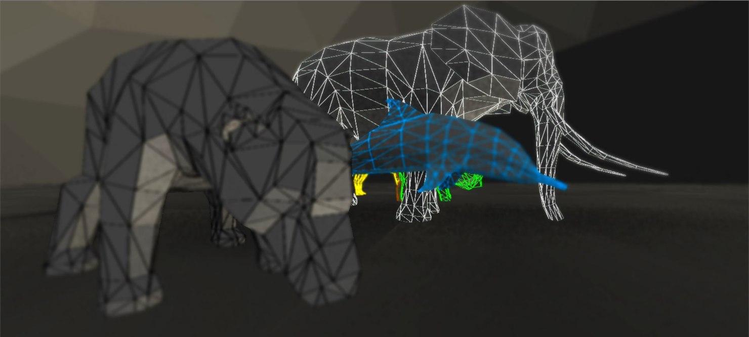 animals polys 3D model