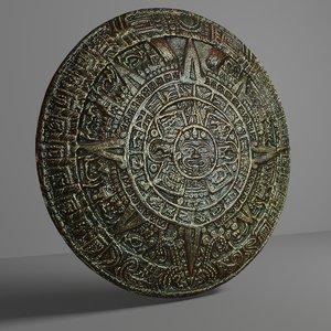 aztec calendar 2 3D model