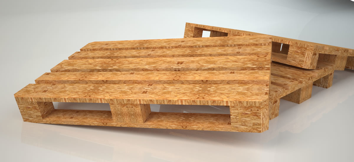 3D wooden pallet low-poly vr model