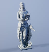 woman statue 3D model