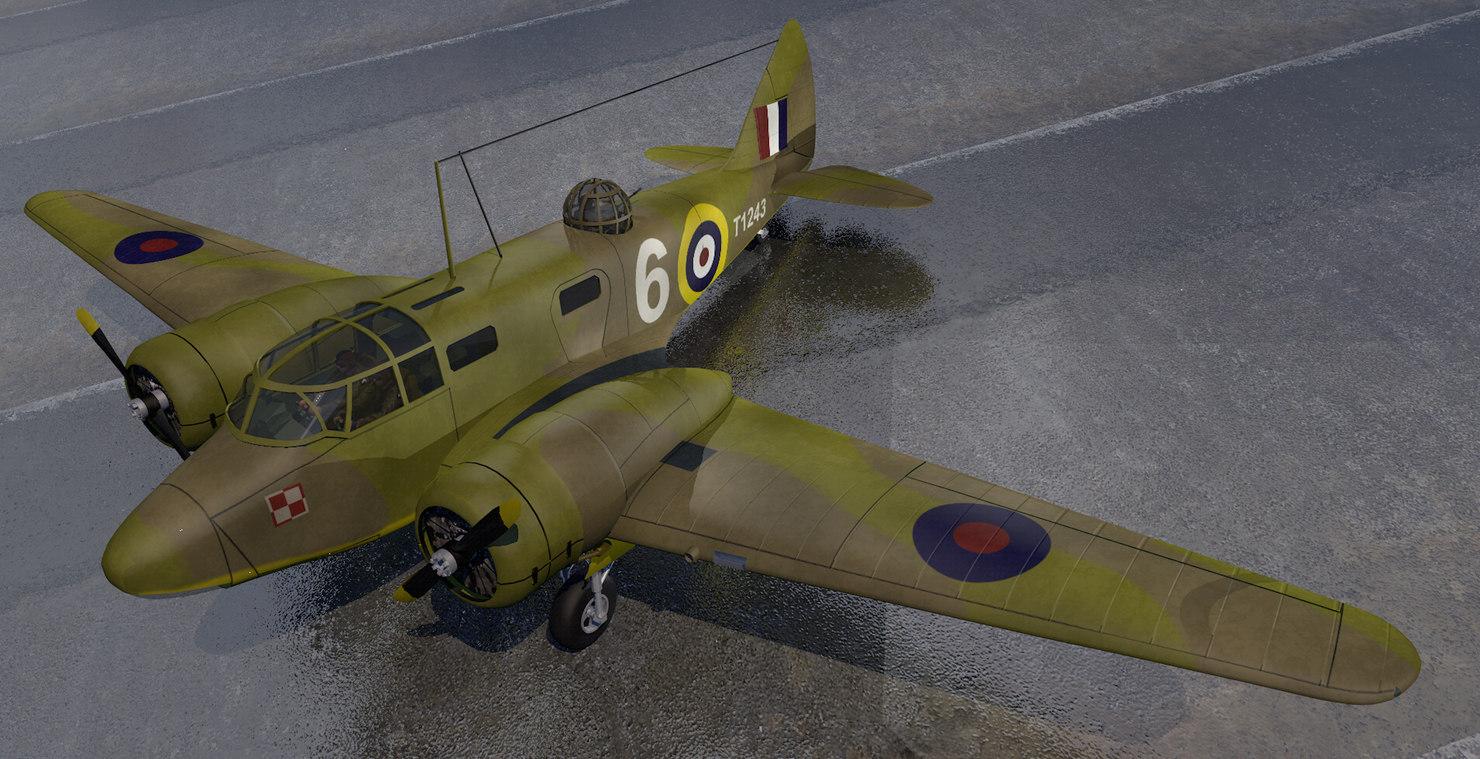 plane airspeed oxford mk-2 3D model