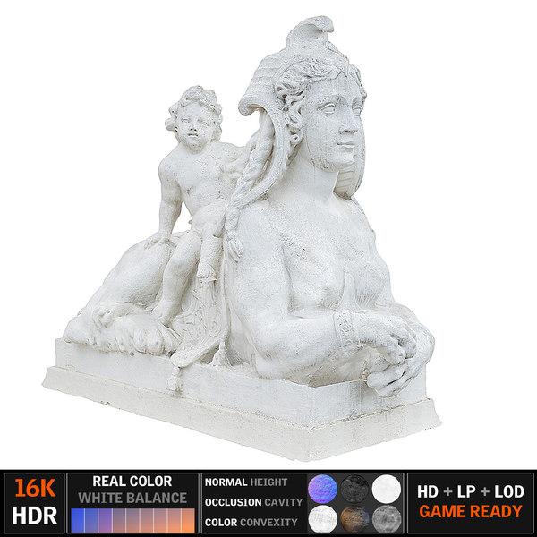 monument scanned 3D model