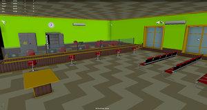 bank safe 3D model