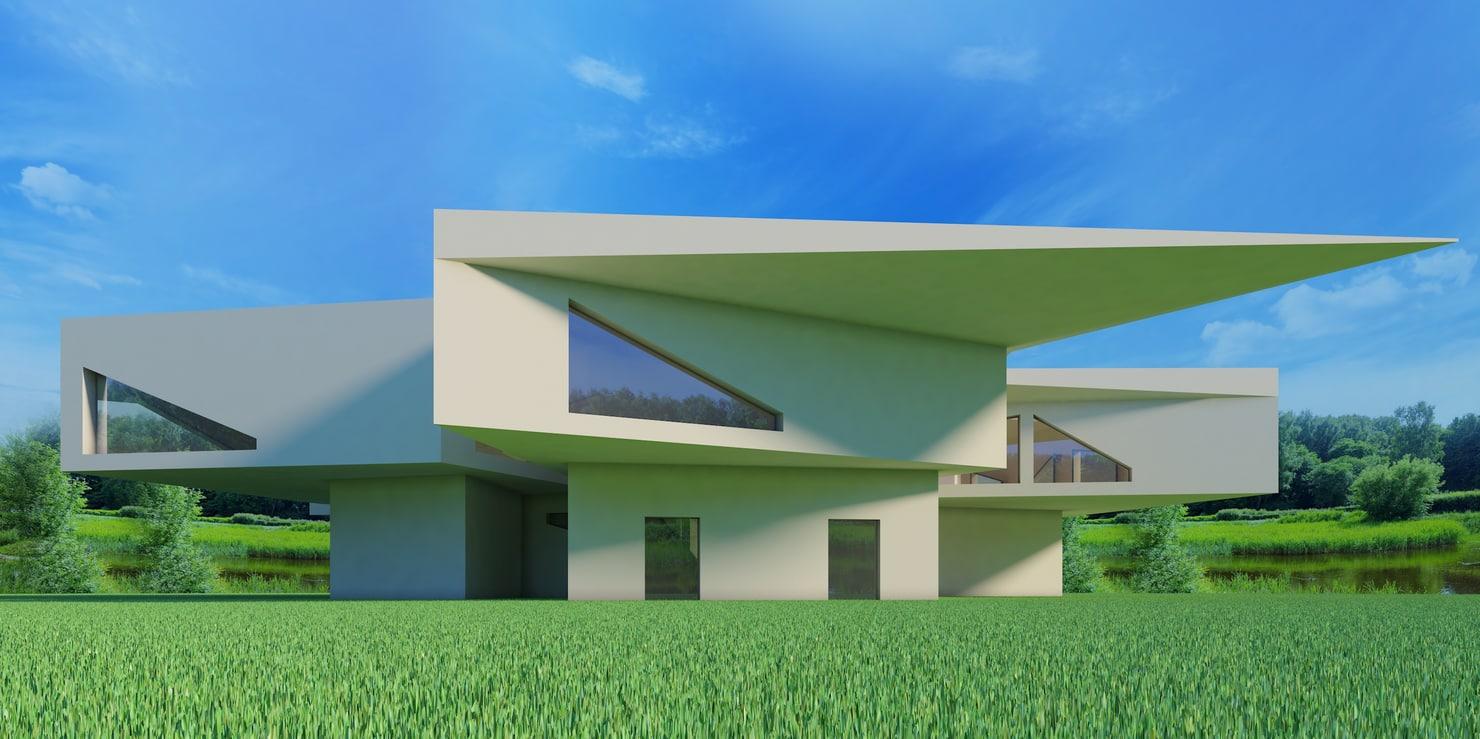 3D house modern model