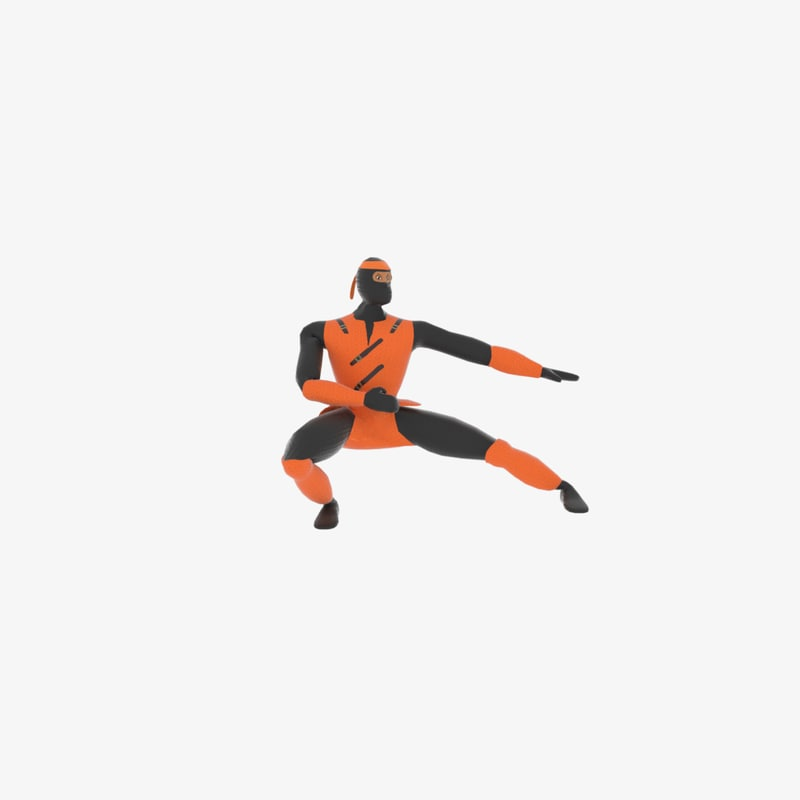 3D ninja art