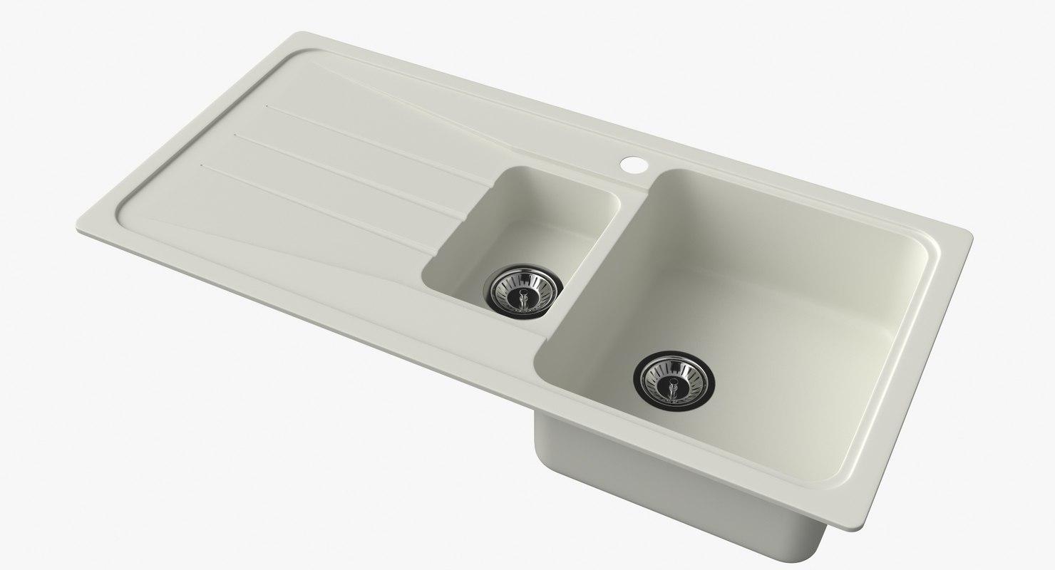 3D model sink blanco sona 6