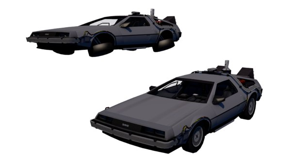 3D delorean future