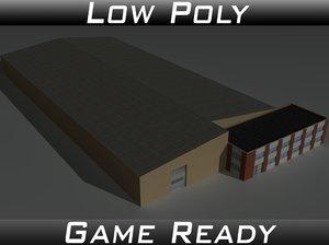 3D factory building 22 model
