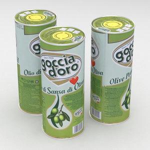3D olive goccia oro
