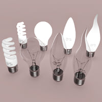 light bulbs 3D